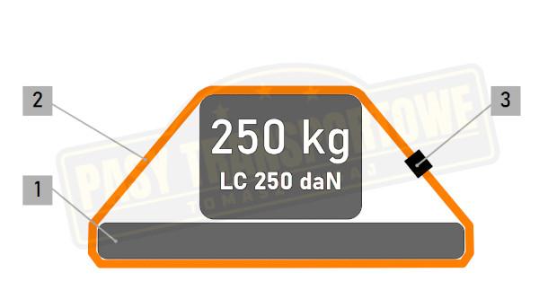 Pas ściągający z klamrą mocujący 250 kg