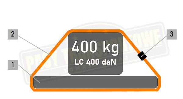 Pas ściągający z klamrą mocujący 400 kg 35mm